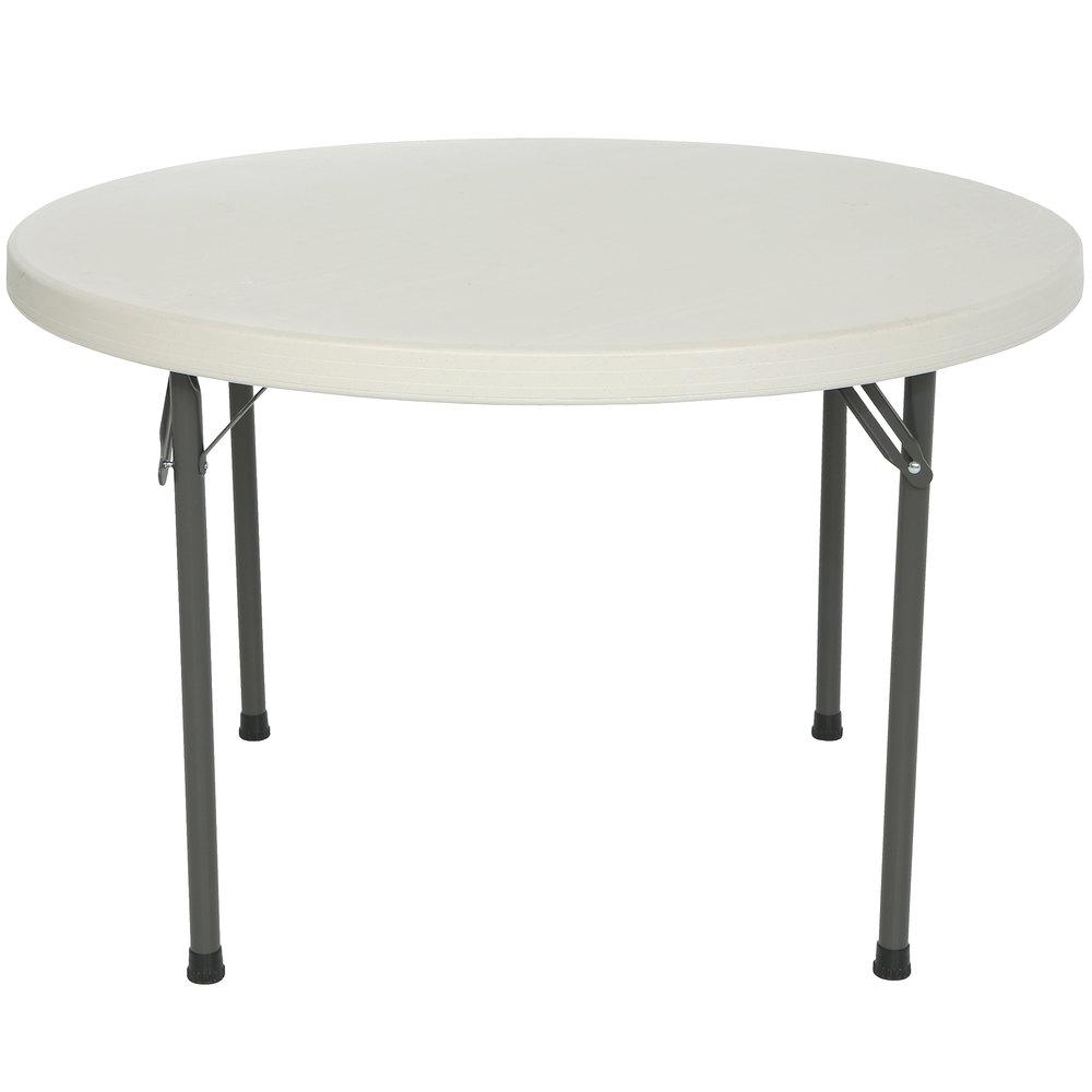 lifetime round folding table 46 plastic almond 2968. Black Bedroom Furniture Sets. Home Design Ideas