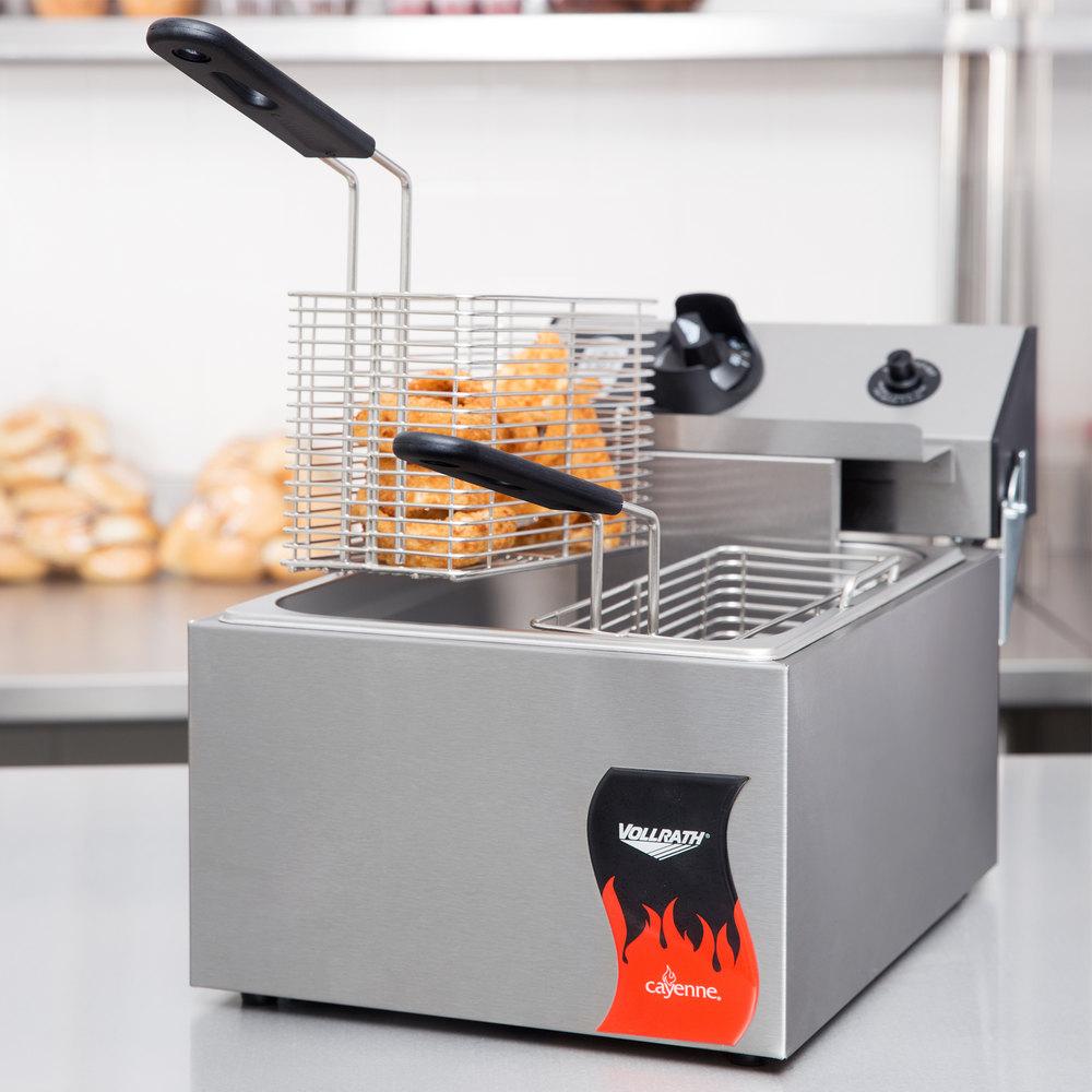 Countertop Deep Fryer : Vollrath 40705 10 lb. Commercial Countertop Deep Fryer - 120V