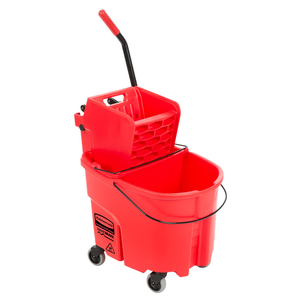 Red mop and bucket husky tool set black chrome