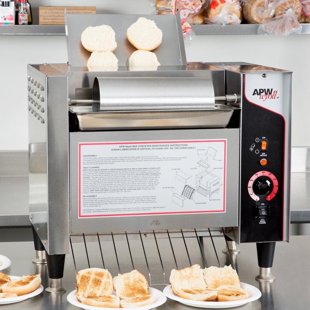 208v Apw Wyott M 2000 Vertical Conveyor Bun Grill Toaster