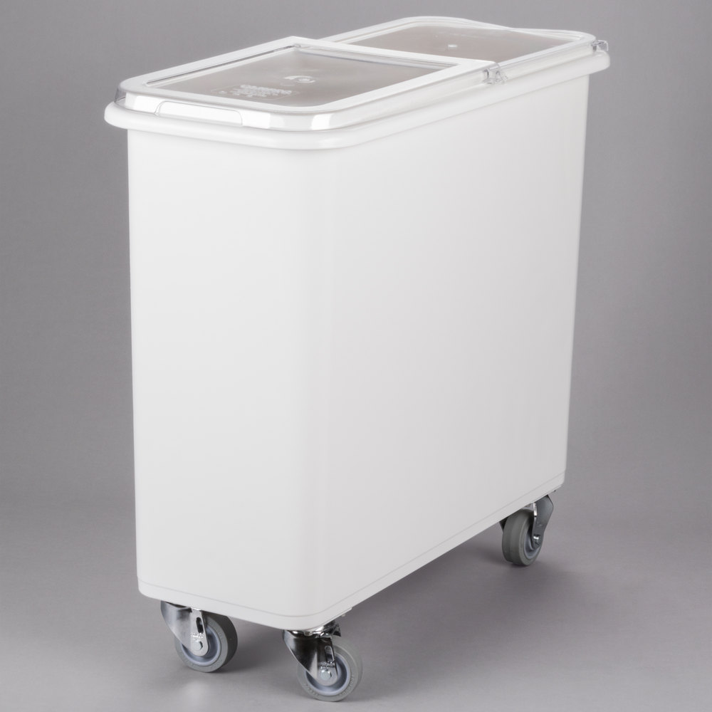 Ingredient Bin with Casters 27 Gallon Food Container Food Storage with Scoop