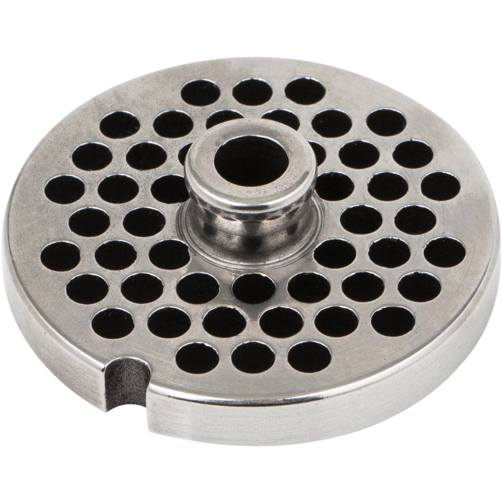 Avantco MG1246 #12 Stainless Steel Grinder Plate for MG12 Meat Grinder - 1/4""