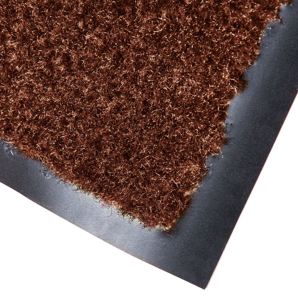 "Cactus Mat 1437M-CB48 Catalina Standard-Duty 4' x 8' Chocolate Brown Olefin Carpet Entrance Floor Mat - 5/16"" Thick"