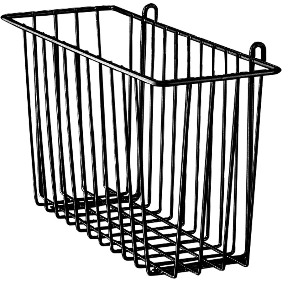 metro h212b black storage basket for wire shelving 17 3  8