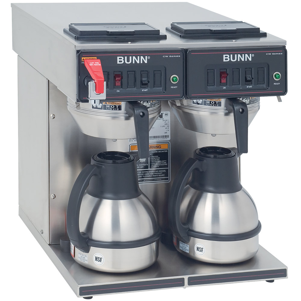 Bunn CWTF Twin-TC Thermal Carafe Coffee Brewer - Automatic - 120/240V (Bunn 23400.0047)