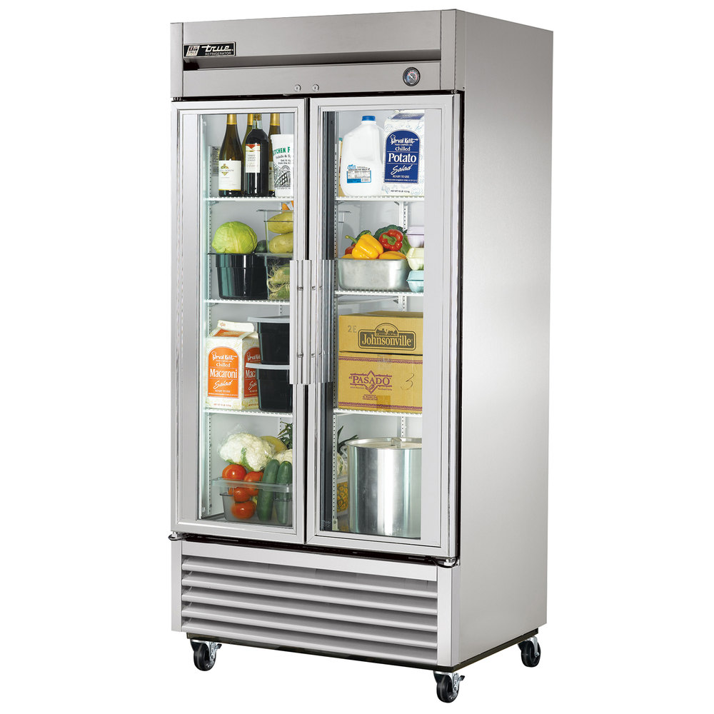 True T 35g Ld 40 Two Glass Door Reach In Refrigerator