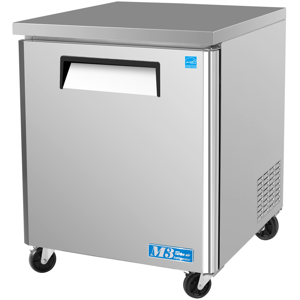 "Turbo Air MUF-28 M3 Series 28"" Undercounter Freezer - 7 Cu. Ft."