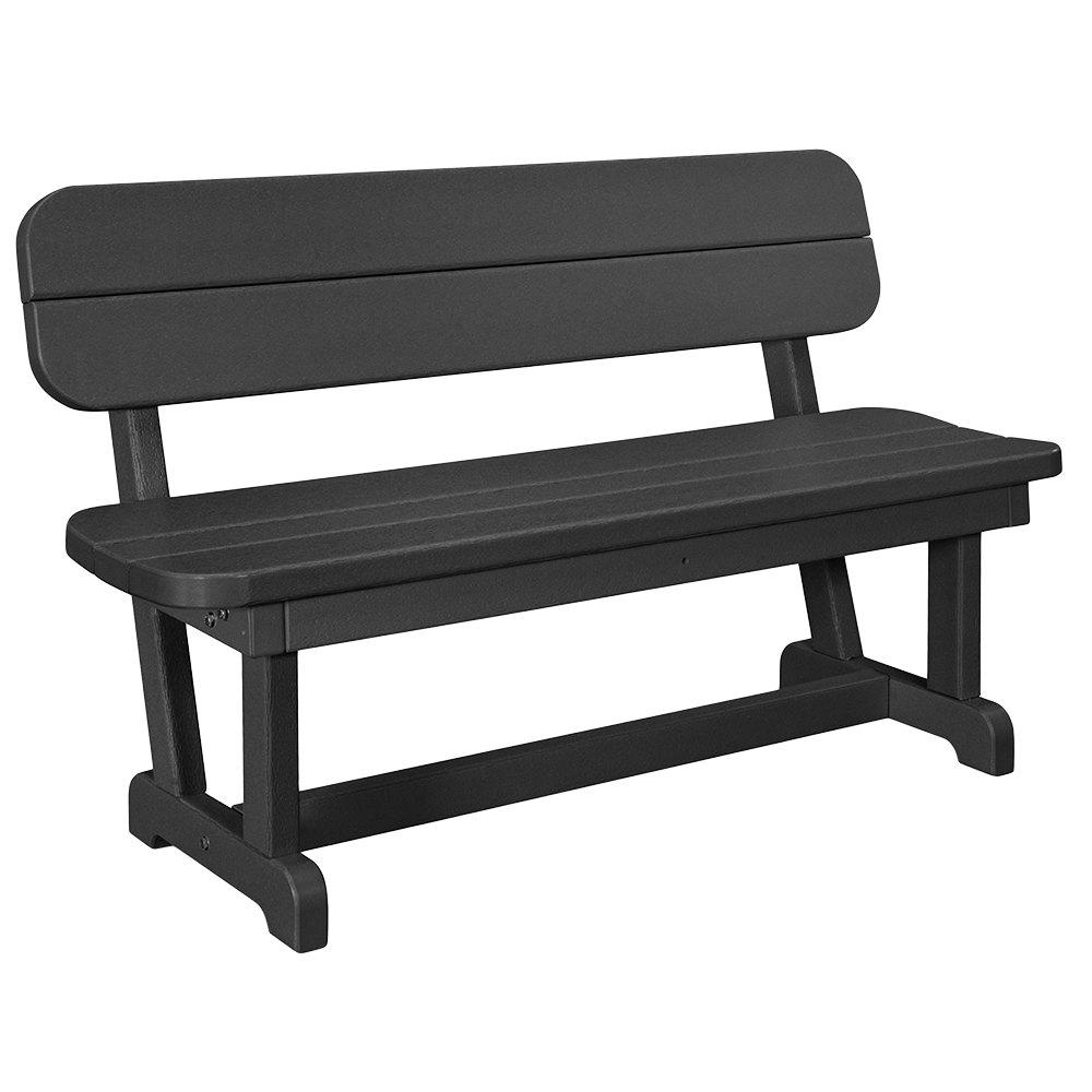 Peachy Polywood Pb48Bl Black 48 X 20 1 2 Park Bench Creativecarmelina Interior Chair Design Creativecarmelinacom