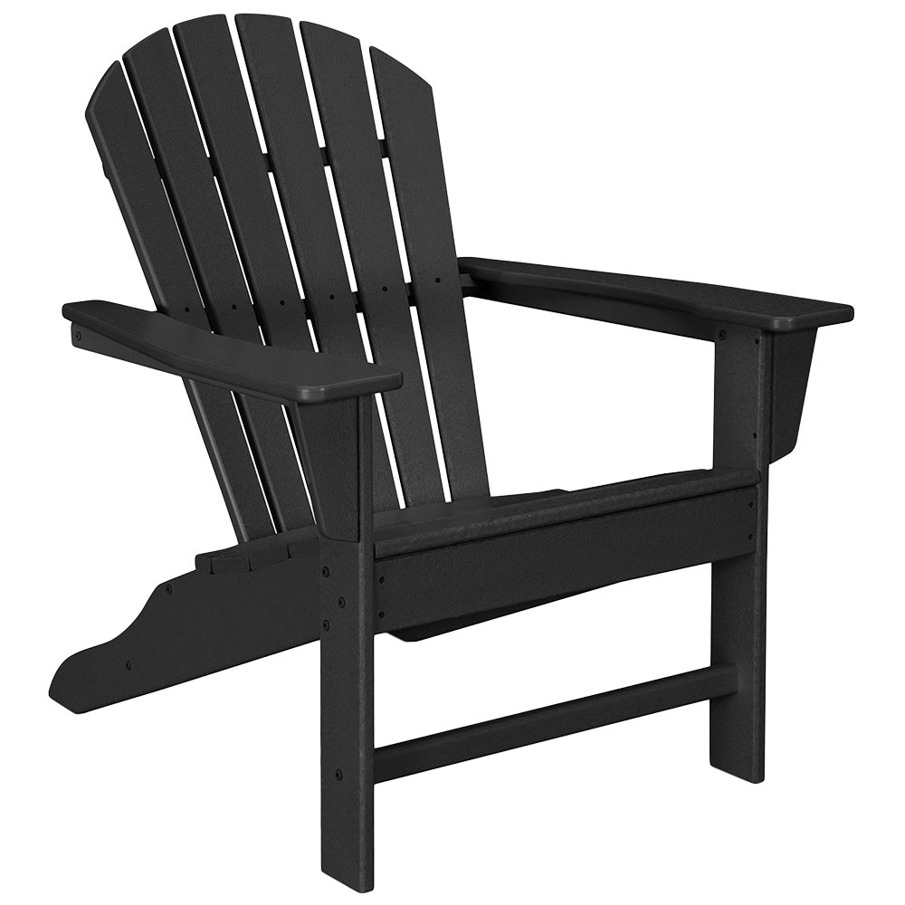 Fabulous Polywood Sba15Bl Black South Beach Adirondack Chair Pabps2019 Chair Design Images Pabps2019Com