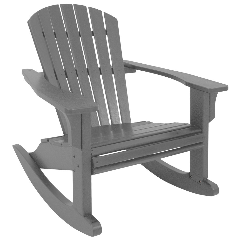 Astounding Polywood Shr22Gy Slate Grey Seashell Rocking Chair Ocoug Best Dining Table And Chair Ideas Images Ocougorg