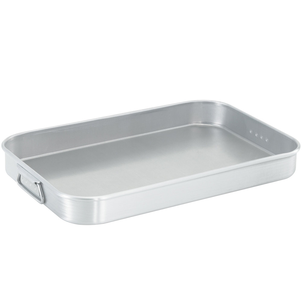 "Vollrath 68369 Wear-Ever 8.125 Qt. Bake and Roast Pan with Handles - 18 9/16"" x 12 9/16"" x 2 1/8"""