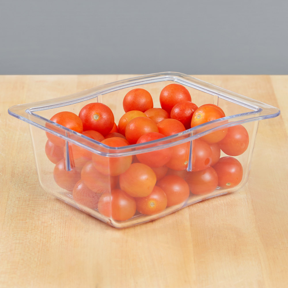 Carlisle 698607 Modular Displayware 1/3 Size Clear Wavy Edge Food Pan