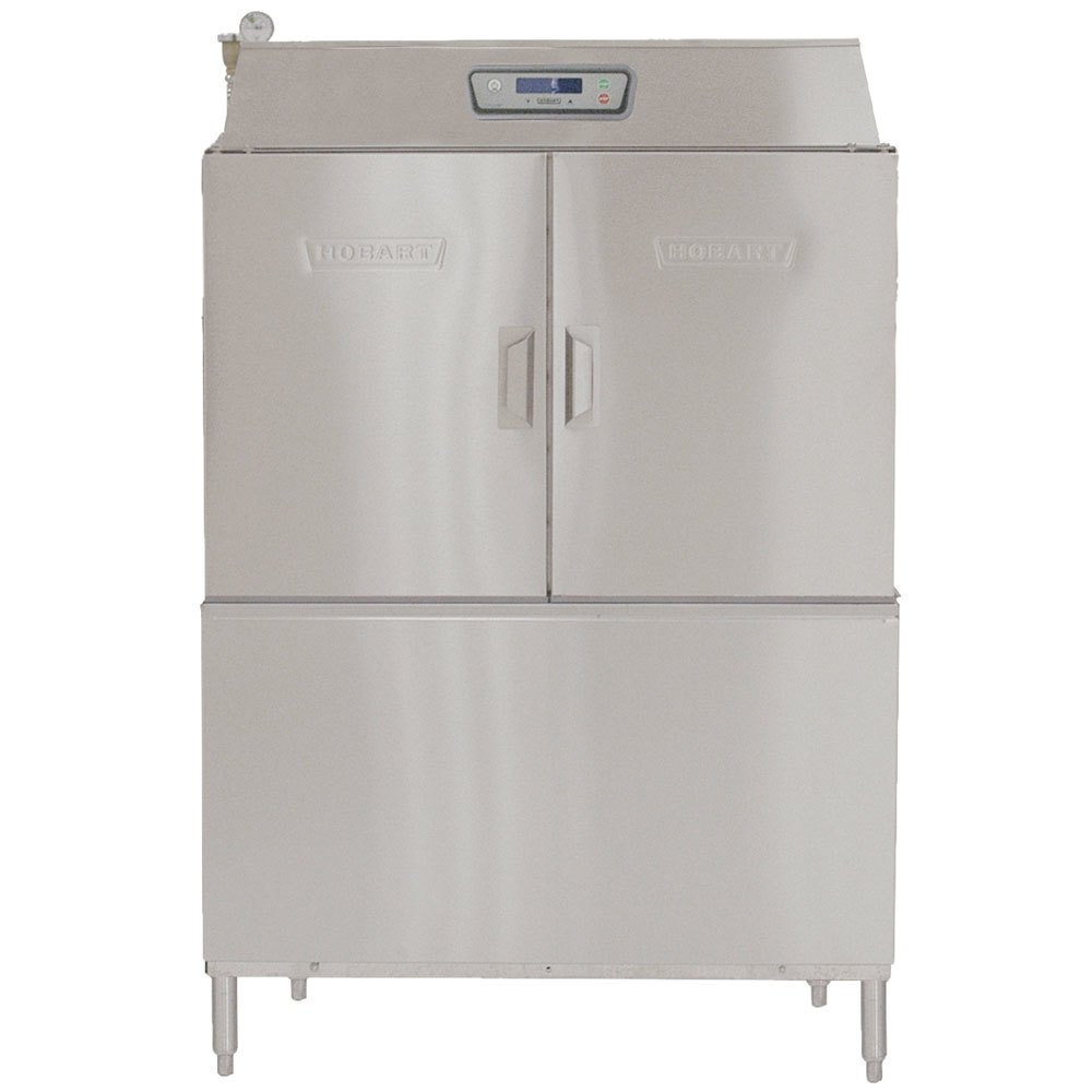 Hobart CL44e-8 Conveyor High / Low Temperature Dishwasher with 30 kW Booster Heater - Left to Right Operation