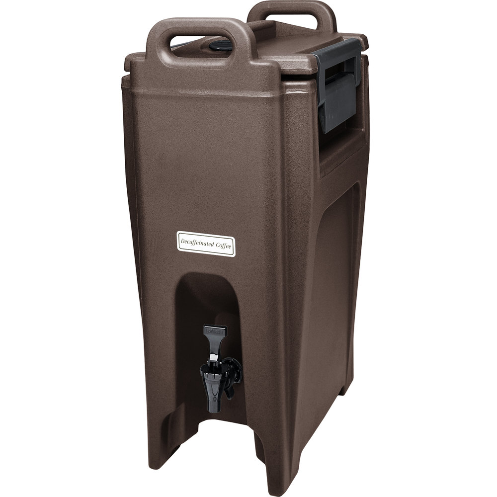 Cambro 500LCD131 Dark Brown 4 75 Gal Insulated Beverage Camtainer