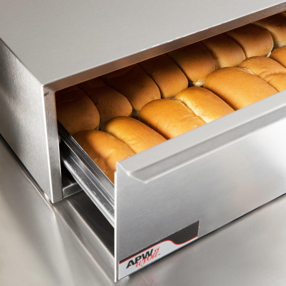 Apw wyott bwd 75n dry hot dog bun warmer for hr 75 series - Hot dog roller grill with bun warmer ...