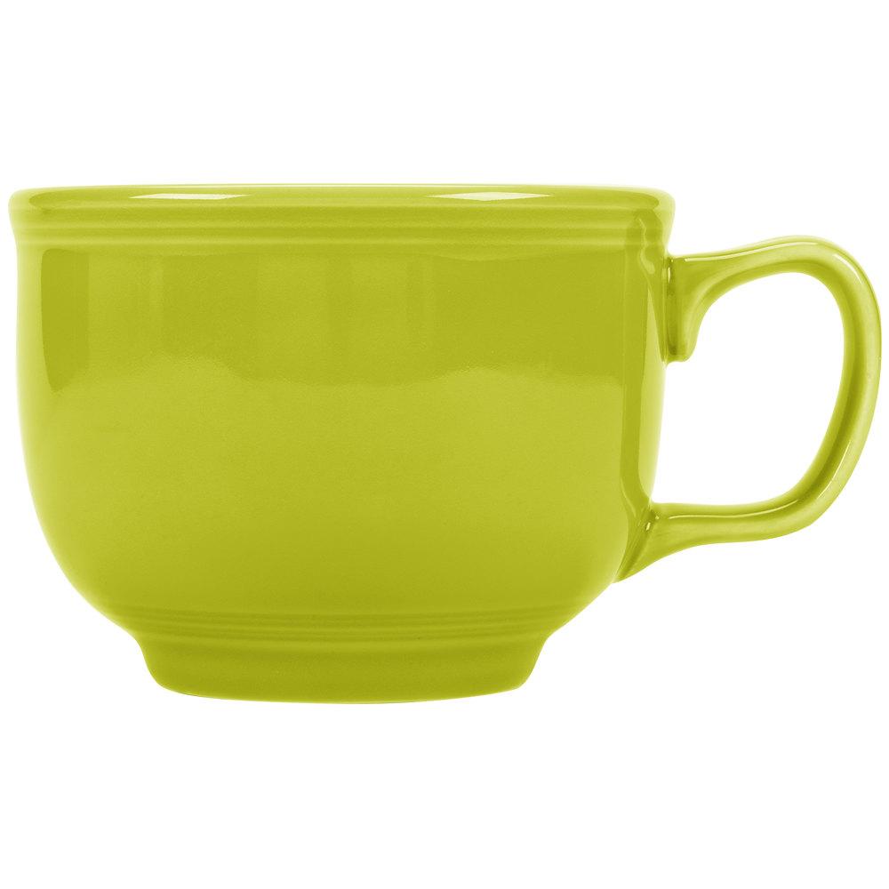 bf75a6d19b7 Homer Laughlin 149332 Fiesta Lemongrass 18 oz. Jumbo China Cup - 12/Case