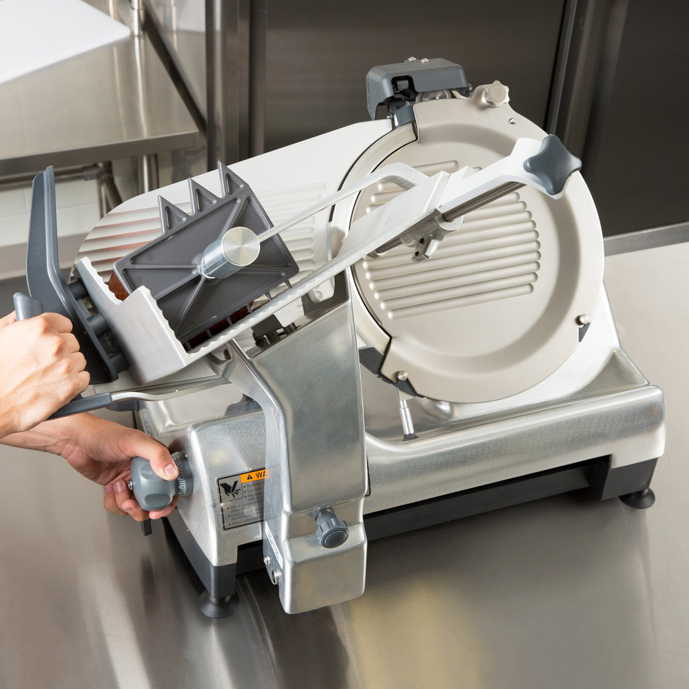 "Hobart HS7-1 13"" Automatic Slicer with Removable Knife - 1/2 hp"