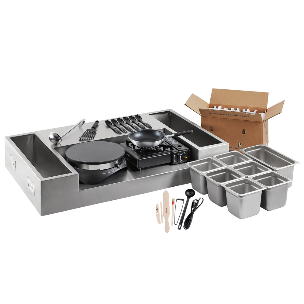 Carnival King 60-Piece Deluxe Butane Made-To-Order Crepe Station
