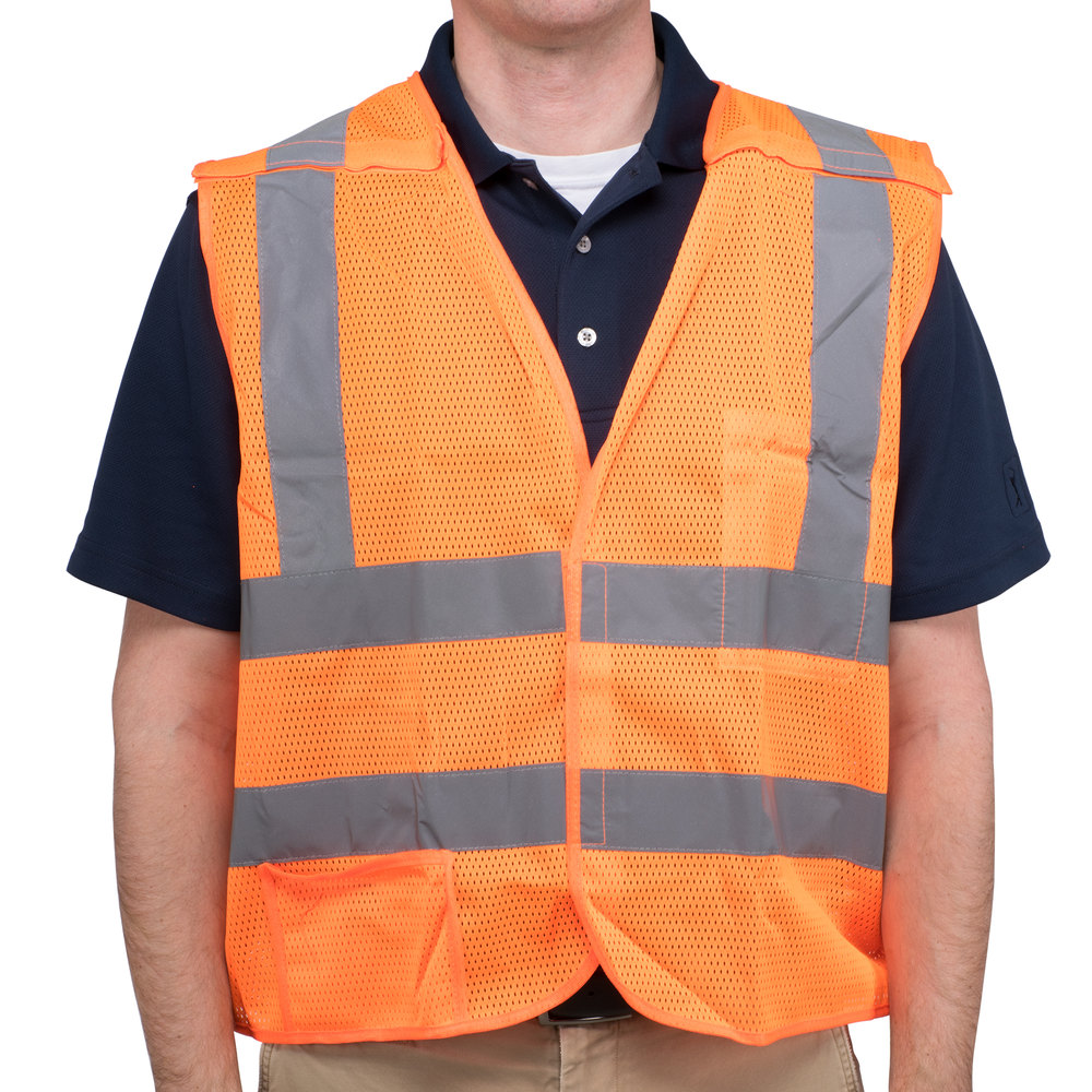 Orange Class 2 High Visibility 5 Point Breakaway Safety