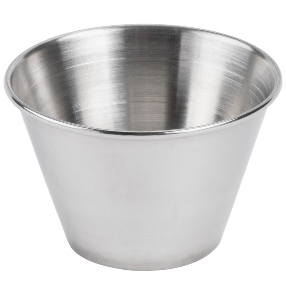 american metalcraft mb4 4 oz stainless steel round sauce cup
