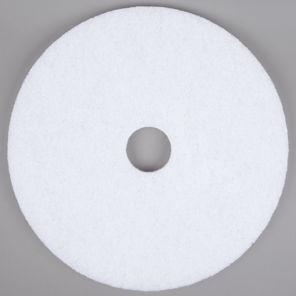 "Scrubble by ACS 41-20 Type 41 20"" White Polishing Floor Pad"