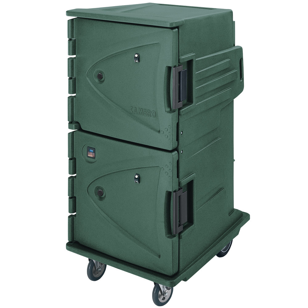 Cambro CMBH1826TSF192 Granite Green Camtherm Electric Food Holding Cabinet Tall Profile - Hot Only with Internal Fahrenheit Thermometer