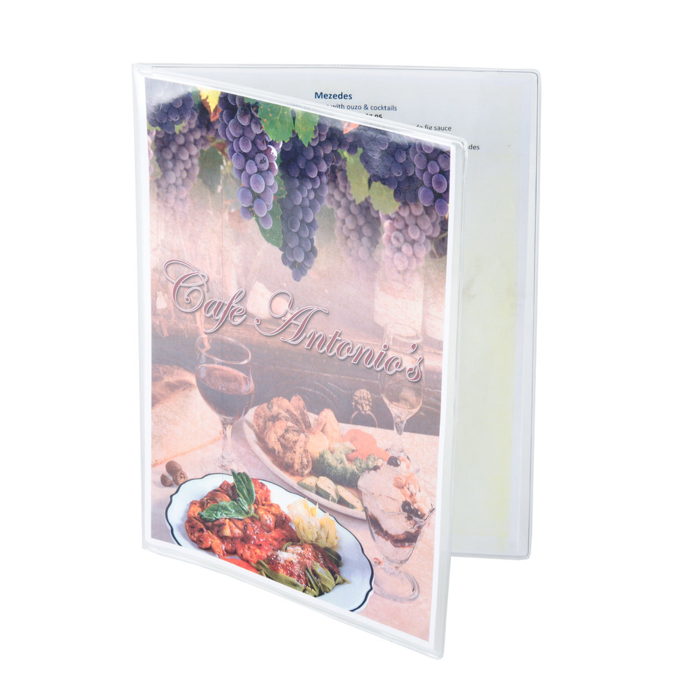"8 1/2"" x 11"" Menu Solutions Two Pocket Menu Cover"