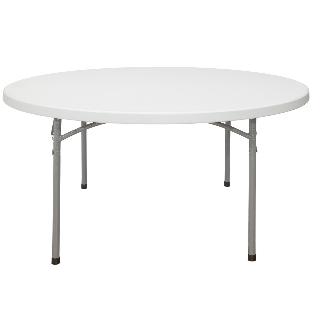 Nps Round Folding Table 60 Plastic Gray Bt60r