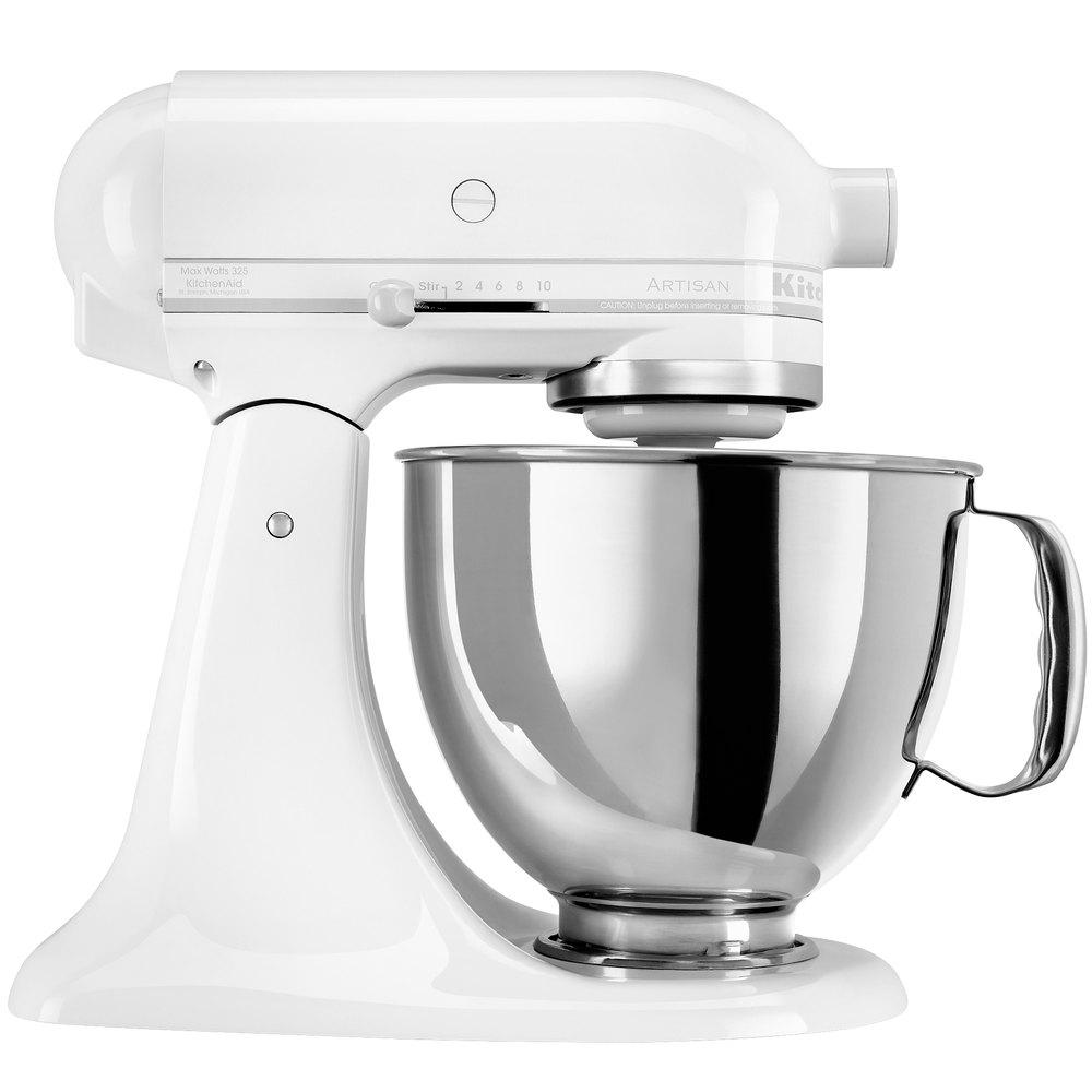 KitchenAid KSM150PSWW White On White Artisan Series 5 Qt