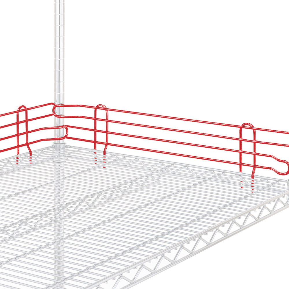 "Metro L24N-4-DF Super Erecta Flame Red Stackable Ledge 24"" x 4"""