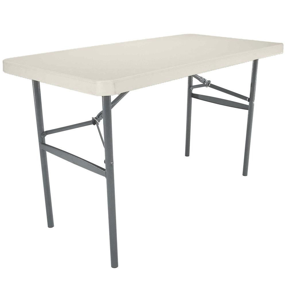 "Lifetime Folding Table 24"" x 48"" Plastic Almond 2959"