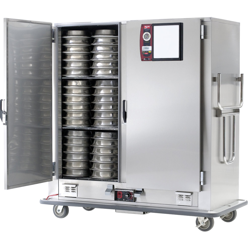 Metro MBQ-200D-QH Insulated Heated Banquet Cabinet Two Door With Quad-Heat System Holds up to 200 Plates 120V