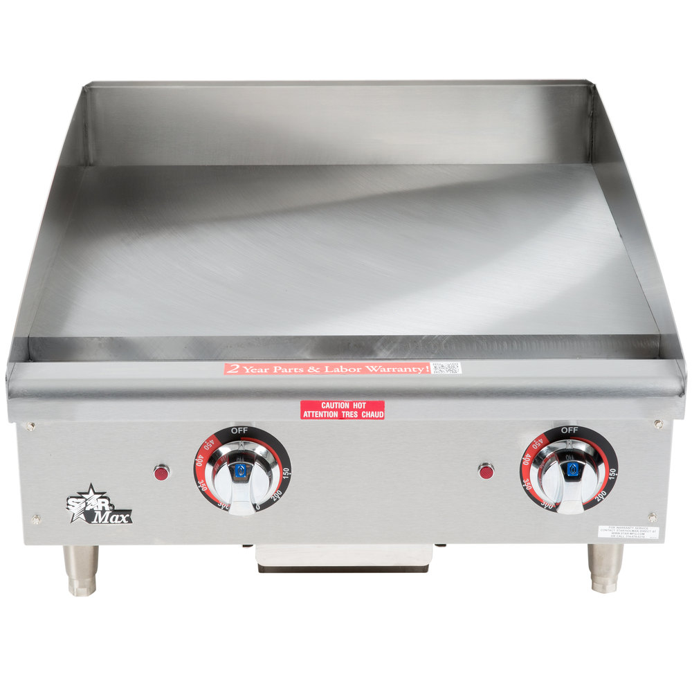"Star Max 524TGF 24"" Countertop Electric Griddle with Snap Action Thermostatic Controls - 8000W"