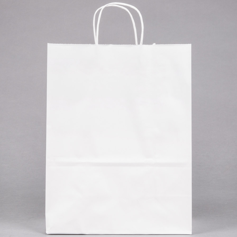 White Paper Shopping Bag with Handles 10