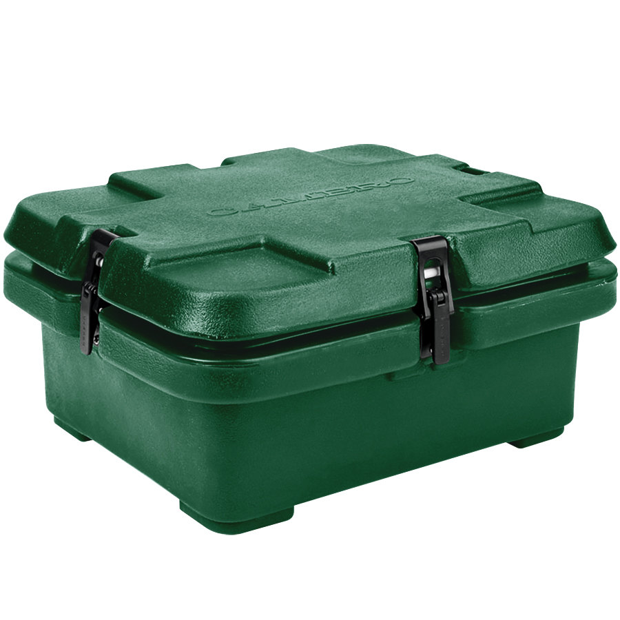 "Cambro 240MPC519 Camcarrier 4"" Deep Green Top Loading Inuslated Food Pan Carrier"