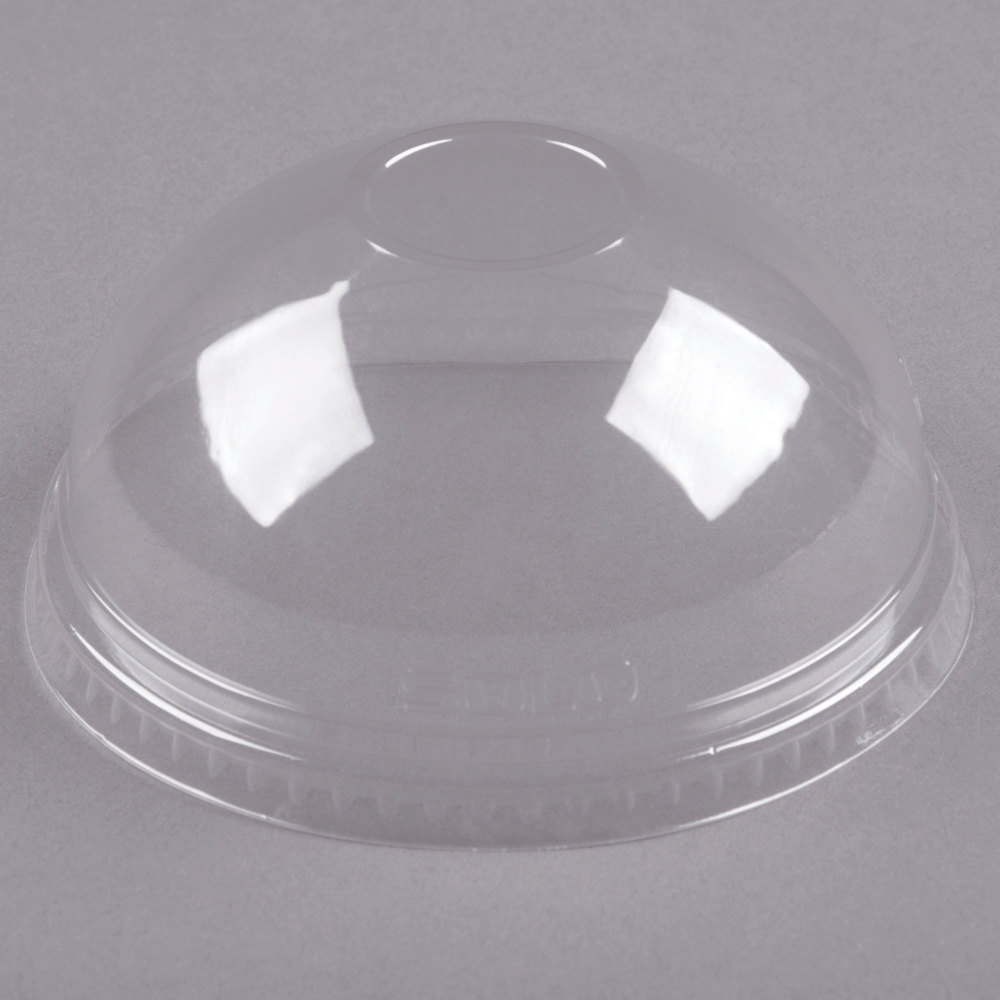 Dart Solo Conex DNR626 Clear PET Dome Lid without Hole - 50/Pack
