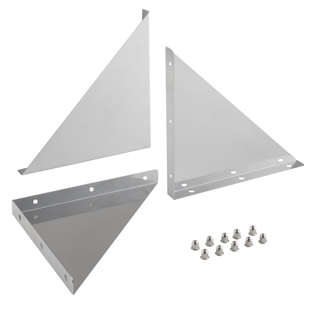 Regency Bracket and Hardware Kit for 12 inch Stainless Steel Wall Mount Shelves