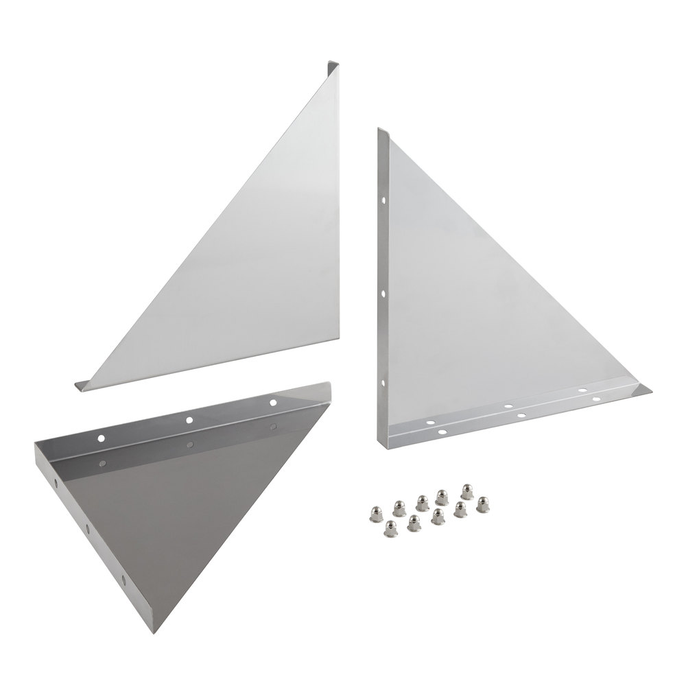 Regency Bracket and Hardware Kit for 15 inch Stainless Steel Wall Mount Shelves