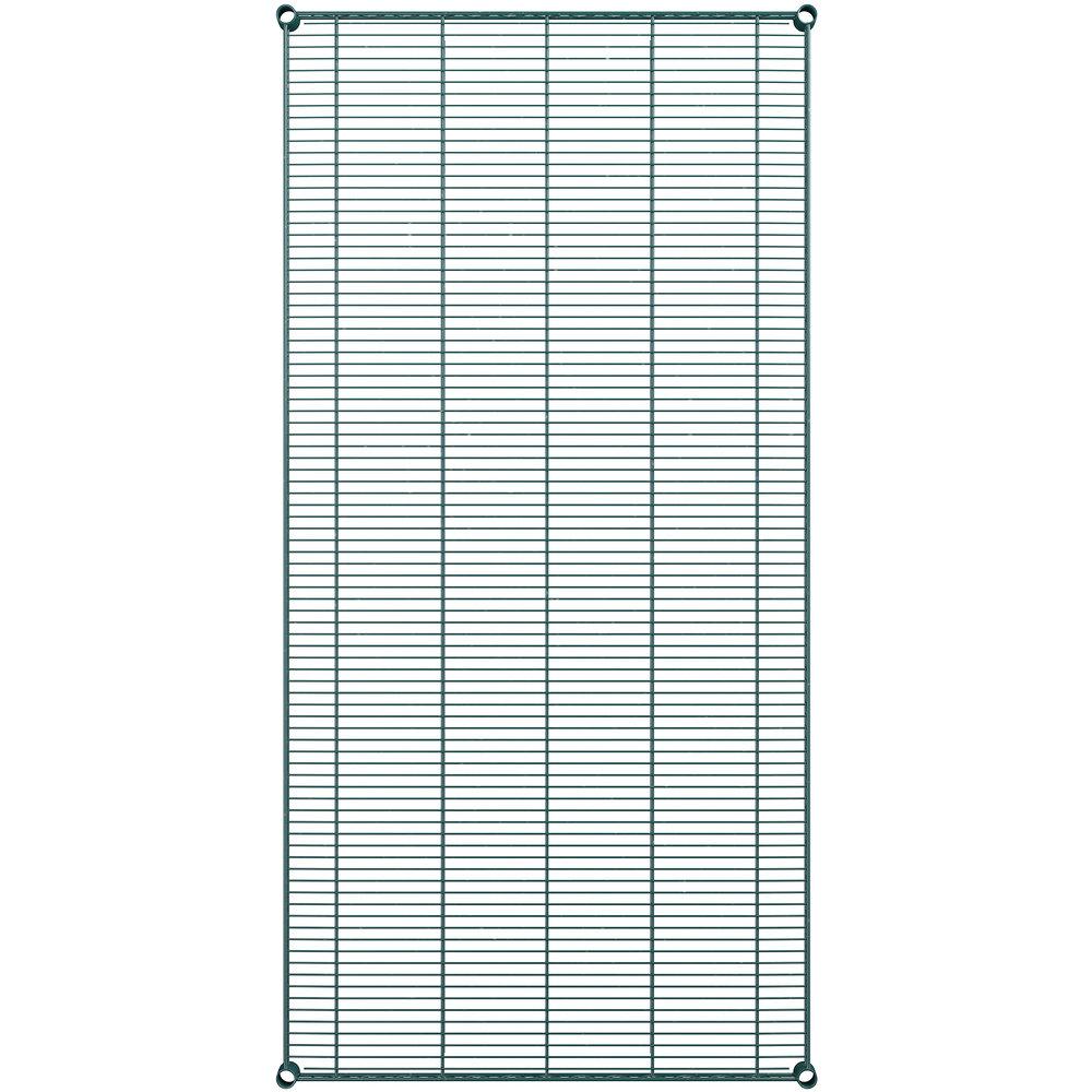 Regency 36 inch x 72 inch NSF Green Epoxy Wire Shelf