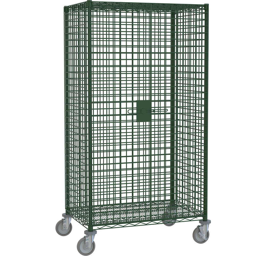"Metro SEC55VK3 Metroseal 3 Mobile Wire Security Cabinet with Metroseal 3 Finish 52 3/4"" x 27 1/4"" x 68 1/2"""