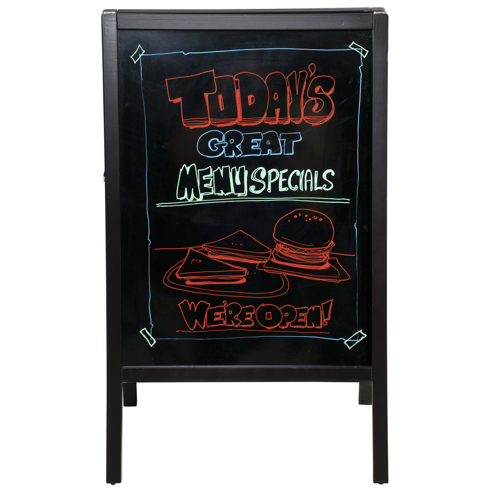 "Write On Sidewalk Sign A Frame - 25"" x 42"""