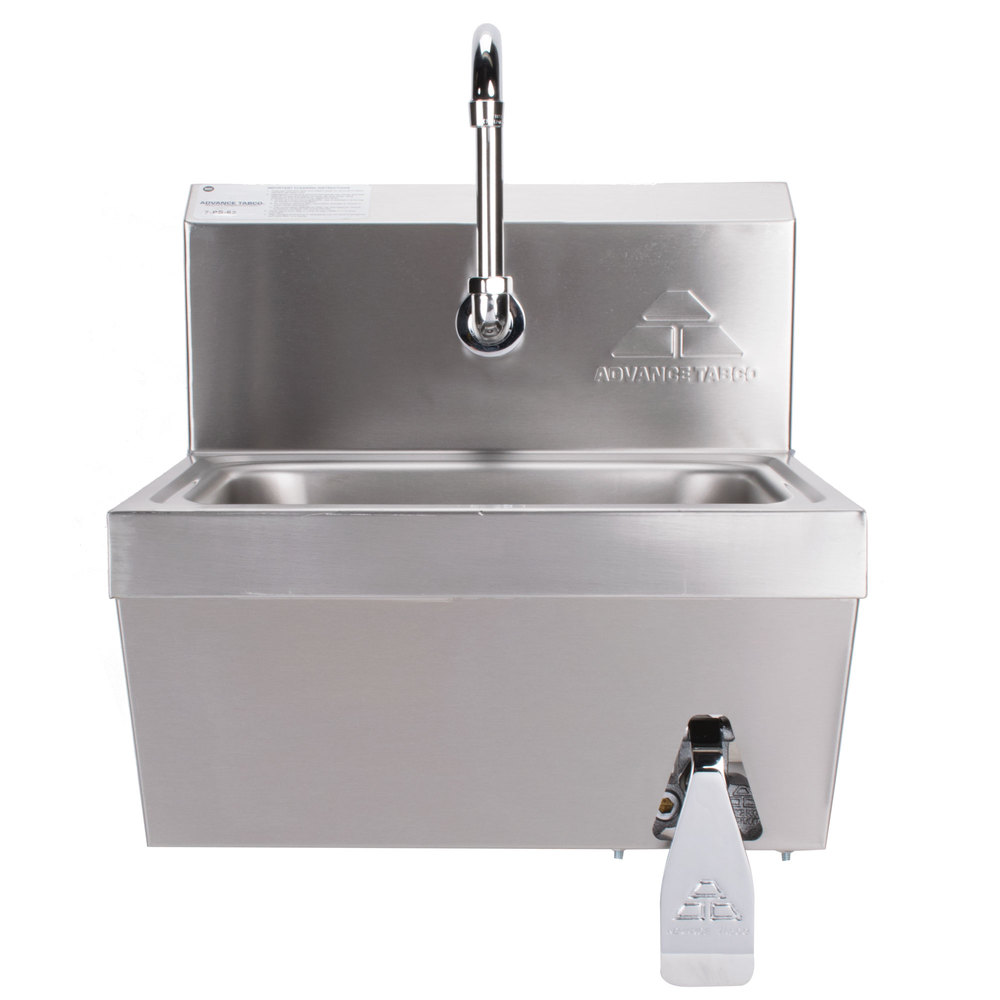 Advance Tabco 7 Ps 62 Hands Free Hand Sink With Knee