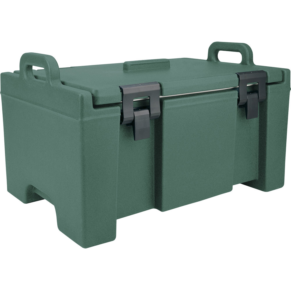 "Cambro UPC100192 Granite Green Camcarrier Ultra Pan Carrier with Handles - Top Load for 12"" x 20"" Food Pans"