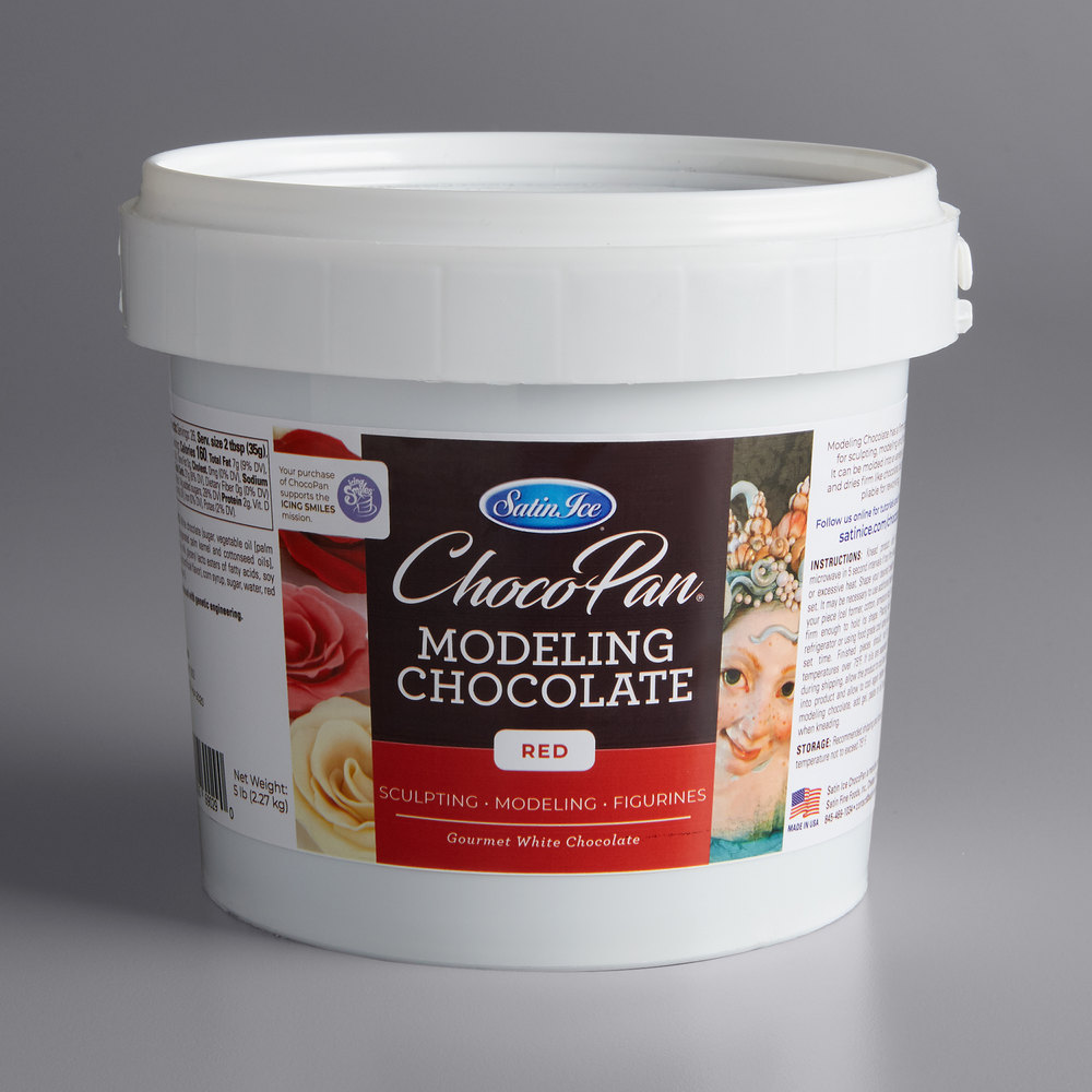 Satin Ice ChocoPan Red Modeling Chocolate 1 Lb