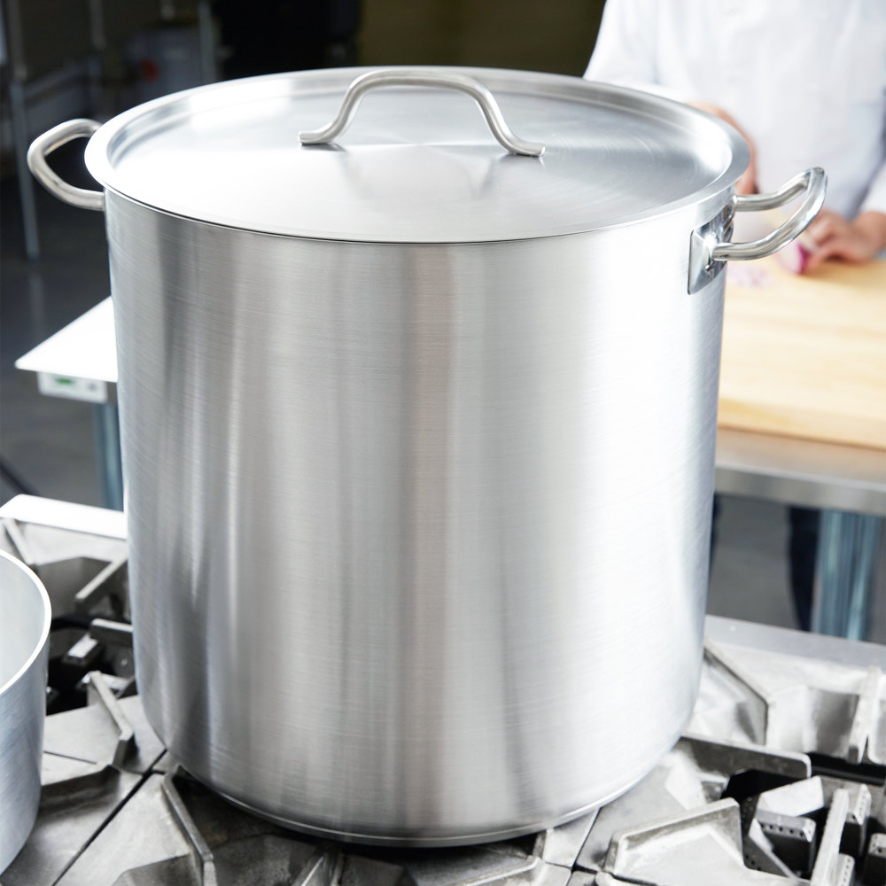 Vollrath 3513 Optio 53 Qt. Stainless Steel Stock Pot with Cover