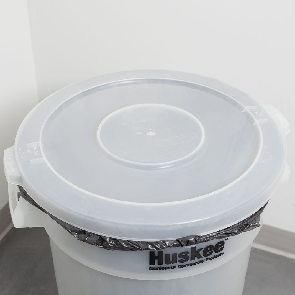 Continental 3201CL Huskee 32 Gallon Clear Trash Can Lid