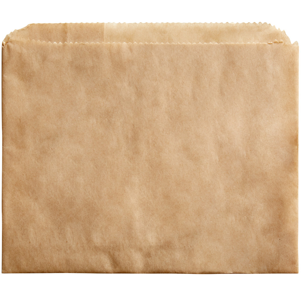 Carnival King 3 1/2 inch x 4 1/2 inch Small Kraft French Fry Bag - 500/Pack