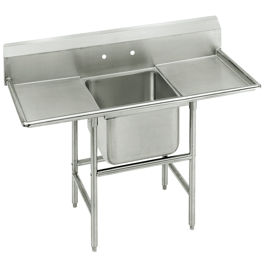 Advance Tabco 94-1-24-24RL Spec Line One Compartment Pot Sink with Two Drainboards - 66""