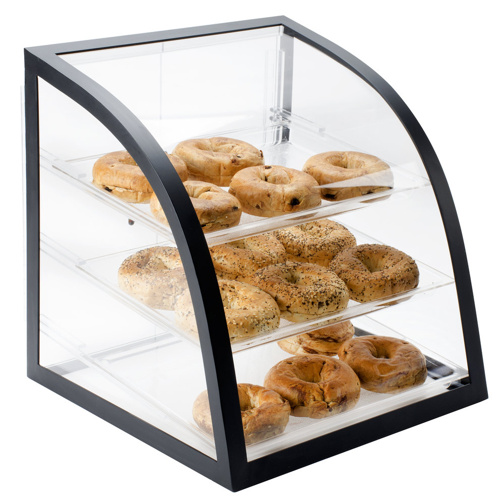 "Cal-Mil P255-13 Iron Black Display Case - 16"" x 16 1/2"" x 16 1/2"""