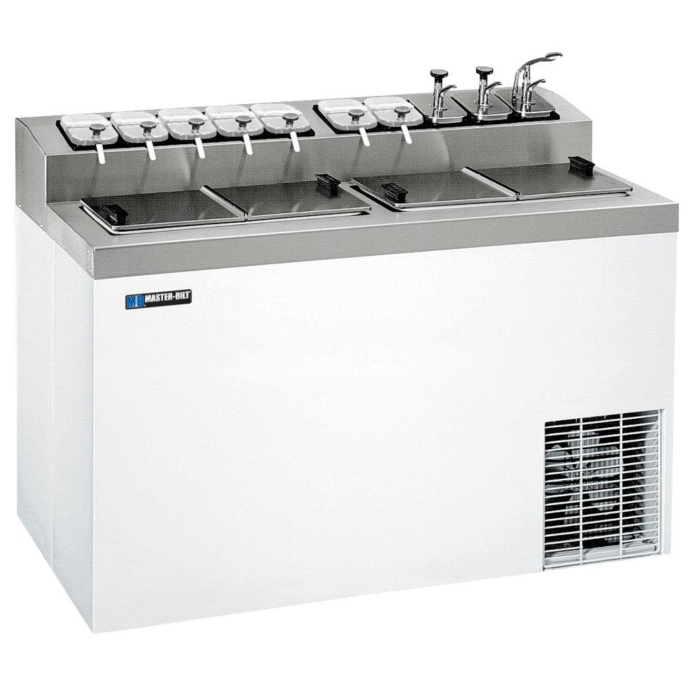 Master-Bilt FLR-80 White Flip Top Ice Cream Dipping Cabinet with ...
